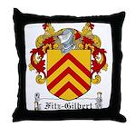Fitz-Gilbert Family Crest Throw Pillow