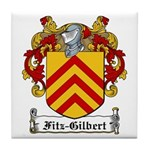 Fitz-Gilbert Family Crest Tile Coaster