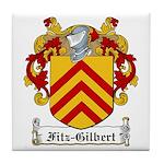 Fitz-Gilbert Family Crest Tile Coaster