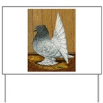 Indian Fantail Pigeon Yard Sign