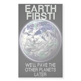Earth First - Rectangle Decal