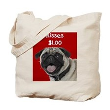 Pug Kisses Tote Bag