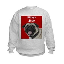 Pug Kisses Sweatshirt