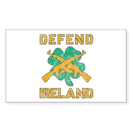 Defend Ireland Rectangle Sticker
