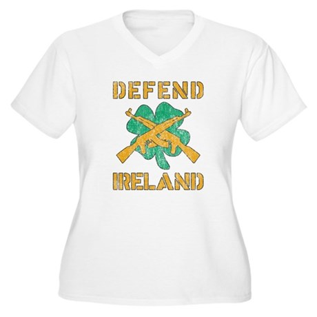 Defend Ireland Plus Size V-Neck Shirt