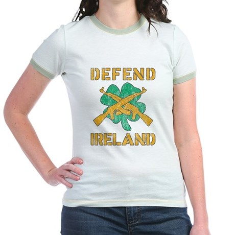 Defend Ireland Jr Ringer T-Shirt