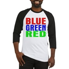 BLUE GREEN RED Baseball Jersey