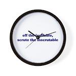 eff the ineffable Wall Clock
