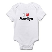 I Love Marilyn (Black) Onesie