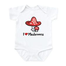 I Love Mushrooms Infant Bodysuit