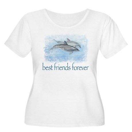 best friends forever dolphins Women's Plus Size Sc