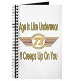 Funny 73rd Birthday Journal