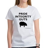 Women's Black on White PIG T-Shirt