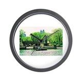 Romance in Central Park Wall Clock