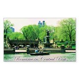 Romance in Central Park Rectangle Sticker