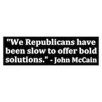 McCain on Republicans (bumpersticker)