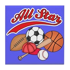 All Star Sports BG Tile Coaster