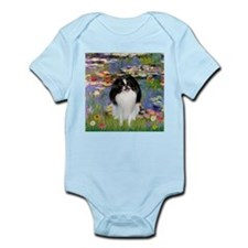 Lilies (Monet) & Japanese Chin Infant Bodysuit
