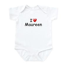 I Love Maureen (Black) Infant Bodysuit