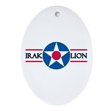 Iraklion Air Station Oval Ornament