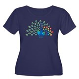Autism peacocks Women's Plus Size Scoop Neck Dark