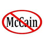 Red Slash through McCain Oval Sticker
