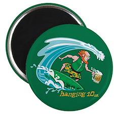"Surf'n Irish Leprechaun 2.25"" Magnet (10 pack)"