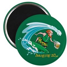 "Surf'n Irish Leprechaun 2.25"" Magnet (100 pack)"