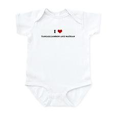 I Love TANIAH,CAMRON AND NATH Infant Bodysuit