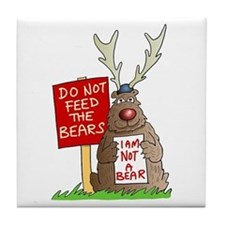 Do Not Feed the Bears Tile Coaster