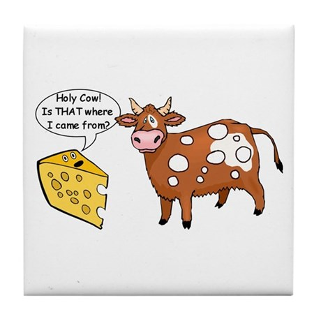 Holy Cow Tile Coaster