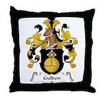 Gulden Family Crest Throw Pillow