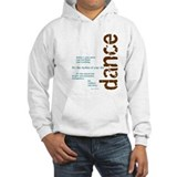 "Brown and Blue ""Dance is your Jumper Hoody"