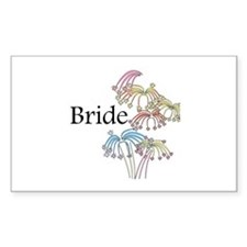 Fireworks Bride Rectangle Decal