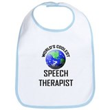 World's Coolest SPEECH THERAPIST Bib