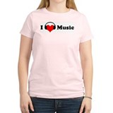 I love music Women's Pink T-Shirt