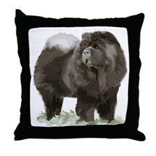 black chow portrait Throw Pillow