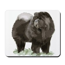 black chow portrait Mousepad