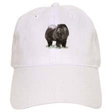 black chow portrait Baseball Cap