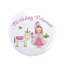 "Unicorn Princess Birthday 3.5"" Button (100 pack)"