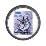 Parlor Roller Pigeon Wall Clock