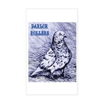 Parlor Roller Pigeon Rectangle Sticker