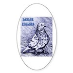 Parlor Roller Pigeon Oval Sticker