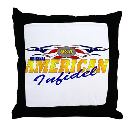 American Infidel Throw Pillow