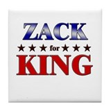ZACK for king Tile Coaster