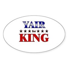 YAIR for king Oval Decal