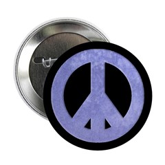Watercolor Blue Peace Sign (button)