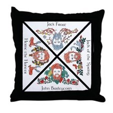 Seasonal Greenman Throw Pillow