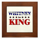 WHITNEY for king Framed Tile