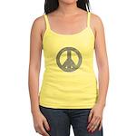Blue Watercolor Peace Sign Jr. Spaghetti Tank